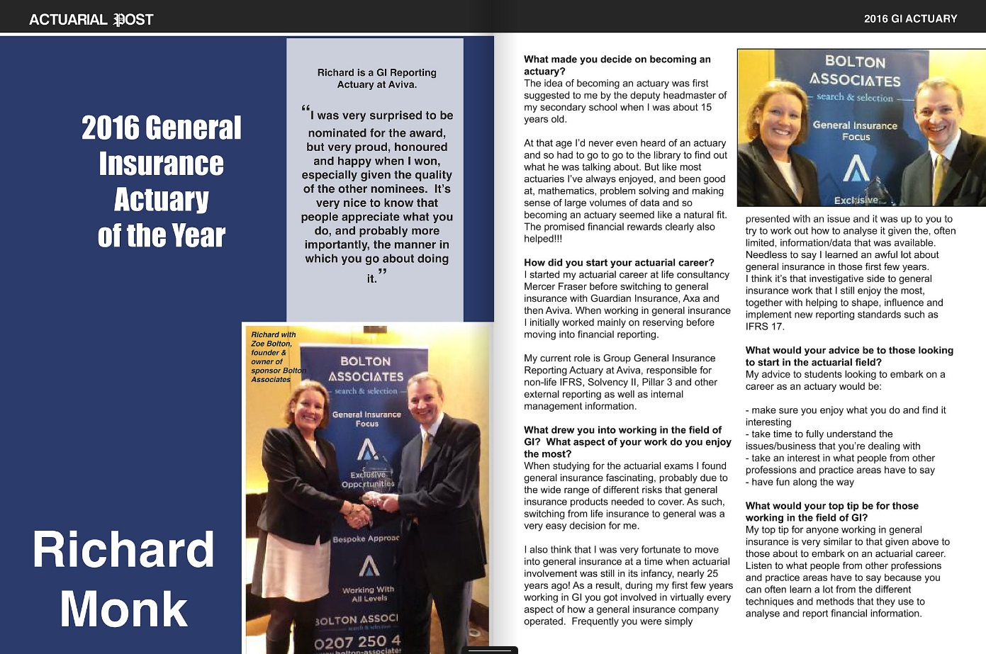 2016 GI Actuary of the Year